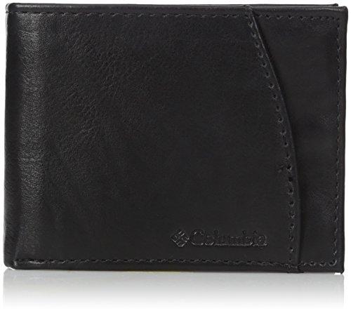 Columbia Herren-Portemonnaie aus Leder, extra Kapazität, schlankes Design - Schwarz - Einheitsgröße