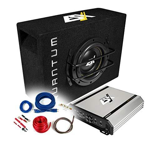 ESX Pack de basses 2 canaux + caisson de basses 16,5 cm + kit de câbles - 500 W / HXE110.2 + QSB-6 + REN10KIT