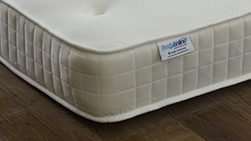 BEDZONLINE 3FT SINGLE MEMORY FOAM OPEN COIL MATTRESS ULTRA-COOL FABRIC EXCLUSIVE TO