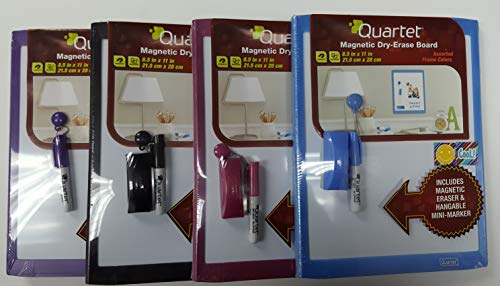 Creative Quartet 85114 - Tabla de borrar magnética (tamaño pequeño, 8,5 x 11...