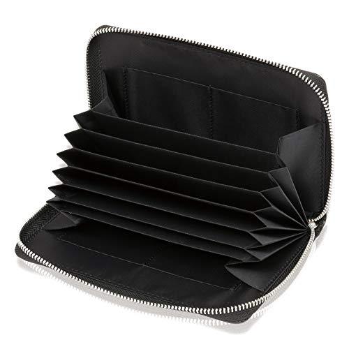 BLUE SINCERE 通帳ケース 磁気防止 大容量 通帳入れ 革 レザー レディース RFID パスポートケース カードケース 小銭も入る 財布 TC1 (ブラック)