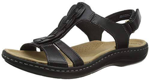 Clarks Laurieann Kay, Sandale Plate Femme, Black Leather, 36 EU