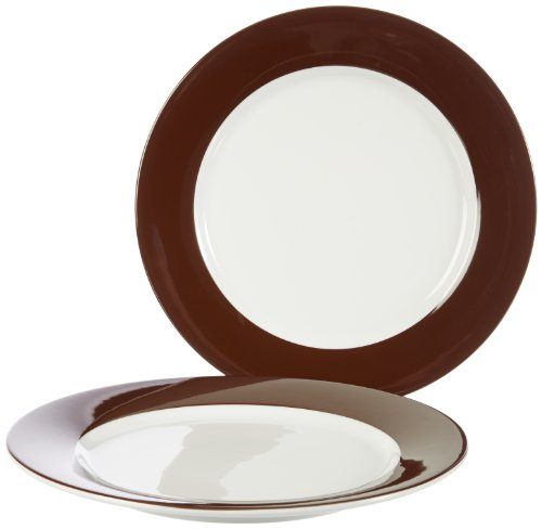Kahla 57C184A72605C platte borden set 2-delig Pronto, chocoladebruin