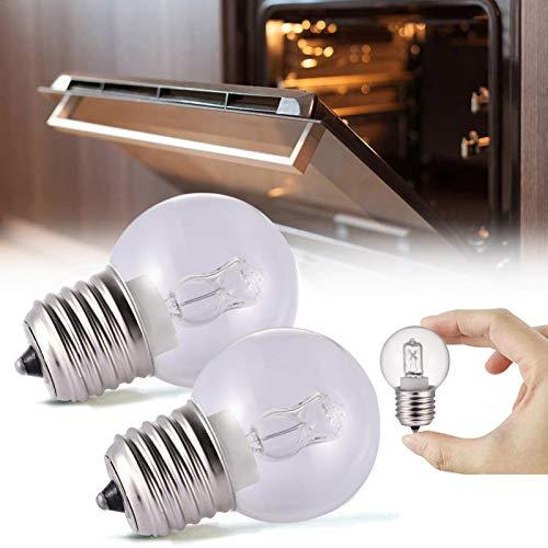 2PCS Lámpara de Horno 40w, E27 Tapón de Rosca pequeño Bombilla de Cocina de 500 °, Lámpara de Horno Blanca cálida Luz Resistente al Calor Se Adapta a microondas, refrigeradores, hornos, etc.