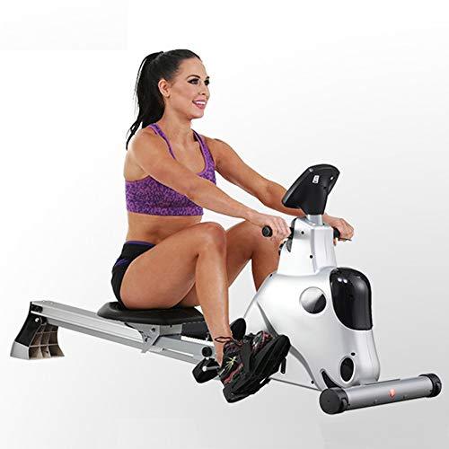 YAMMY Professionelle Rudergeräte, Indoor Rower Mit Quiet Bremsanlage Kugelgelagerte Sitz Ergonomische Kissen