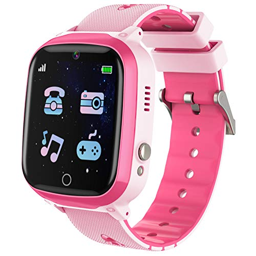 Kids Smart Watch,Touch Screen Kids Games Watchs with Call SOS Camera Music Player Alarm Clock Calculator 7 Games Watchs for Girls Boys Birthday Gifts 4-12 Year Old (Pink)