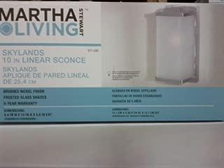 Martha Stewart Living Skylands 10-in Linear Sconce