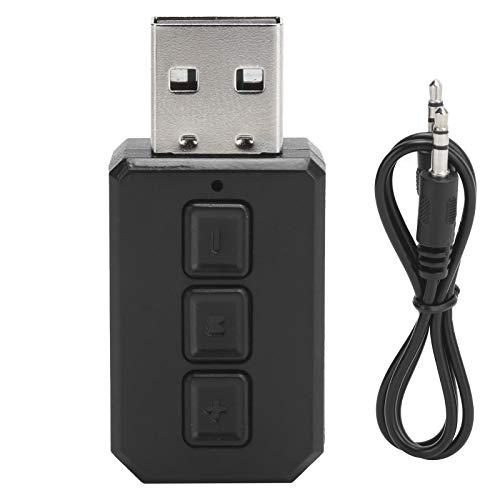 Transmisor Receptor USB Bluetooth 5.0, 2 en 1 Adaptador de Altavoz Manos Libres para Coche Mini Receptor Transmisor Estéreo Bluetooth 5.0 Inalámbrico 3.5mm Aux Jack, Sistema Estéreo para Coche / Hogar