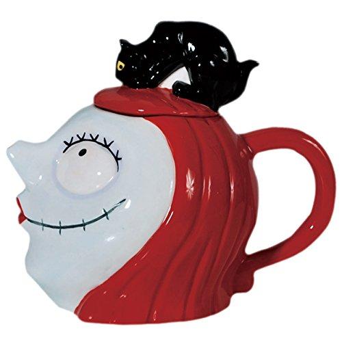 Westland–Cuaderno (900ml Tetera de cerámica, 18cm, Disney pesadilla antes de Navidad Sally con gato