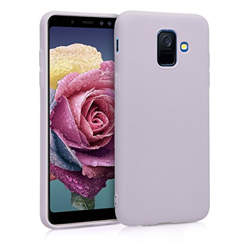 kwmobile TPU Silicone Case Compatible with Samsung Galaxy A6 (2018) - Soft Flexible Protective Phone Cover - Lavender