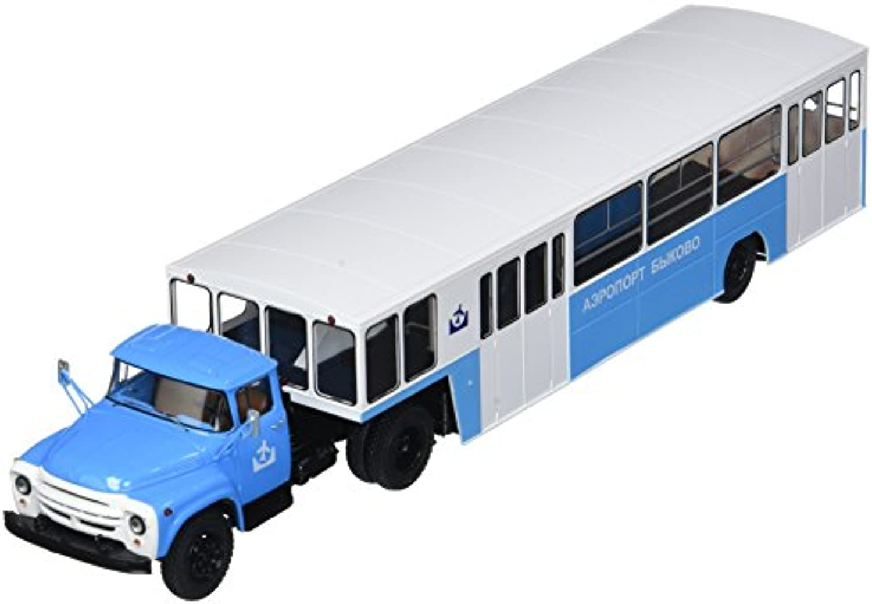 Herpa 83SSM7005 SSM  ZIL-130V1 mit Airport Bus Semitrailer Appa-4 Bykovo Miniaturmodell-Fahrzeug