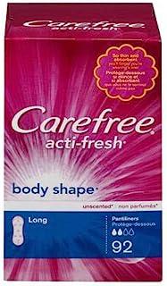 Carefree Acti-Fresh Body Shape Long Pantiliners - Regular Absorbency (Pack of 2)