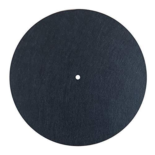 MayRecords 12インチレコードマット 静電防止 ターンテーブルマット レコードプレーヤー用 羊毛フェルトスリップマット 3mm