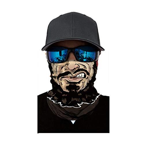carol -1 Multifunktionstuch Herren und Damen - Atmungsaktiv & Schnelltrocknend - Motorrad Gesicht Mundschutz Lustig Schlauchtuch Halstuch Mund-Tuch Schlauchschal Motorradmaske