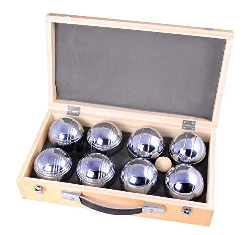Engelhart - Jeu de 8 boules dans un coffret en bois de luxe jeux de pétanque - 010206
