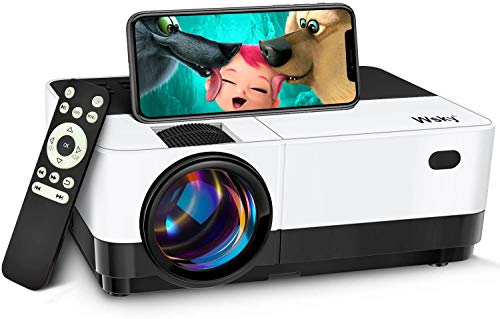Wsky WiFi Mini Projector, Best Portable Projector for Outdoor Movies, 6000 Lux, Full HD Outdoor Movie Projectors, Wireless Mirroring, for iPhone, Android, Laptops, PCs, Windows, DVD Player