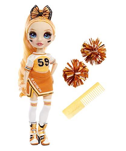 Rainbow High Cheer Fashion Doll - Luxoriöse Outfits, Pompons & Cheerleader Puppe - Poppy Rowan, Orangene Fashion Puppe - Rainbow High Cheer Serie - Perfektes Geschenk für Mädchen ab 6 Jahren