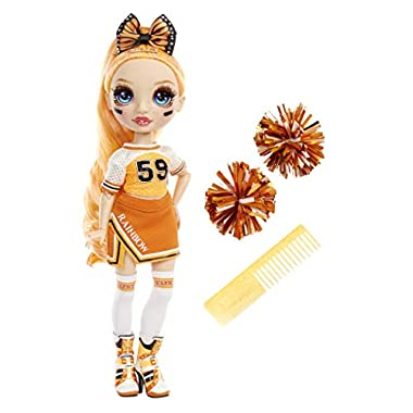 Rainbow High Cheer Poppy Rowan – Orange Cheerleader Fashion Doll with 2 Pom Poms and Doll Accessories, Great Gift for…