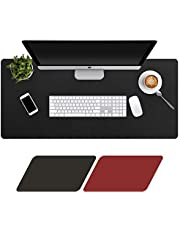 Levoit Large Desk Mat 90x40cm, Double-Sided Extended Mouse Pad, Soft PU Leather Mouse Mat Desk Blotter, Non-Slip Waterproof Desk Protector Cover, Multifunctional Desk Writing Mat