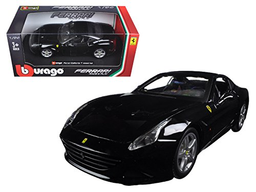 Maisto Ferrari California T Black Closed Top 1/24 Model Car by Bburago