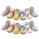 PRETYZOOM 6 Pares de Calcetines para Bebés Calcetines de Algodón Calcetines Antideslizantes para Bebés Y Bebés para Recién Nacidos (Estilo Mixto Adecuados para Niños de 0-1 Años)