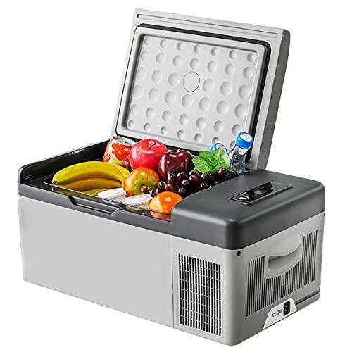 QSWL Refrigerador Portátil para Automóvil, Compresor Compacto 1 Refrigerador De 2 V / 24 V, Adecuado para Automóvil, Camping, Conducción, Viajes, Uso Al Aire Libre O Doméstico