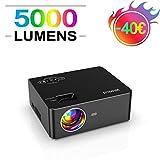 Videoproiettore, WiMiUS 5000 Lumen Mini Proiettore Portatile Nativa 1280 * 720P Full HD LE...