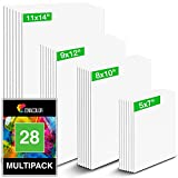 Canvas Boards for Painting Multipack (x28) - 100% Gesso-Primed Cotton - Complete Set 5 x 7