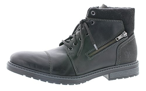 Rieker Herren Klassische Stiefel F5323,Männer Boots,Lederstiefel,Schnürstiefel,Nero/schwarz/schwarz, EU 45