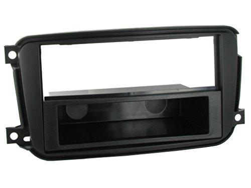 G.M. Production 2416 Kit façade pour autoradio 1 Din (ISO) pour Smart For Two à partir de 2010 sans autoradio de série, noir anthracite, vérifier la compatibilité