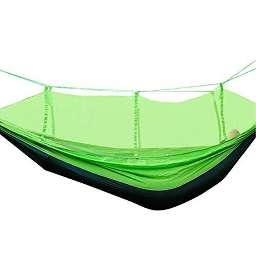 Nieuwe Outdoor Camping Hangmat, Parachute Doek Mesh Hangmat Volwassen Wieg Klamboe Opknoping Stoel Slaapzaal Slaapkamer Netto Bed Student (270 * 140cm)