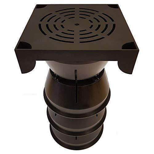 The Drain Company - Stockholm MH010101 Stack Drain SoakAway Kit, Black,208mm W x 208mm D x 390mm H