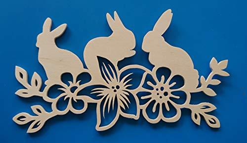 Holzdeko Fensterbild Hasen Ostern