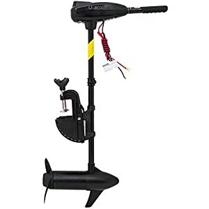 U-BCOO 8 Speed Saltwater Transom Mounted Electric Trolling Motor Fishing Boat Outboard Motor Kayak