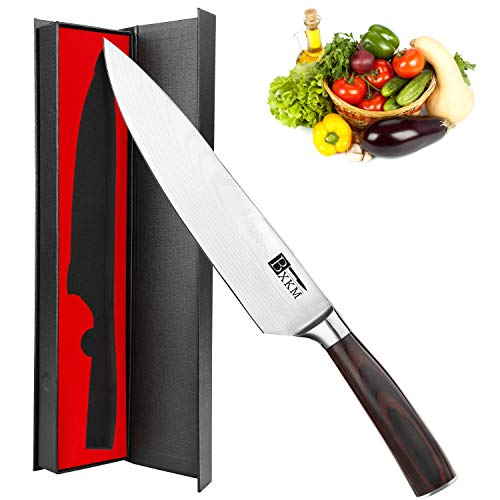Chef Knife - BXKM Kitchen Knife,8 Inch Professional Chefs Knife,German High Carbon Stainless Steel Chef's Knife With Ergonomic Handle and Gift Box