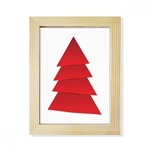 DIYthinker Abstrakte Weihnachtsbaum-Origami Muster Desktop-HÖlz-Bilderrahmen Fotokunst-Malerei Passend 15.2 x 20.2cm (6 x 8 Zoll) Bild Mehrfarbig
