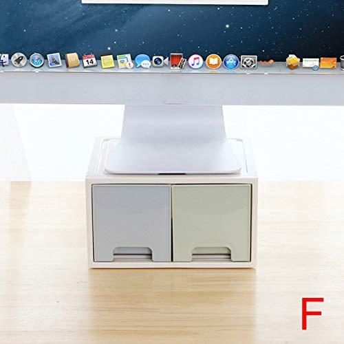 lo LCD Monitor Stand Houder Beugel met Office Lade Opbergdoos Organizer voor Desktop