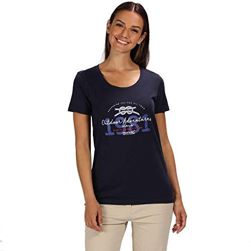 Regatta Filandra III T-Shirt Femme Marine FR : 2XL (Taille Fabricant : Taille 20)