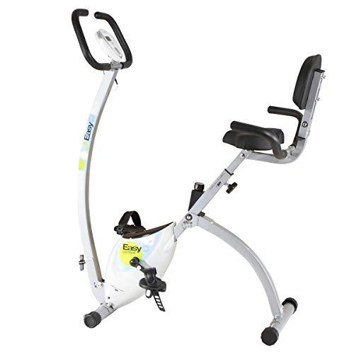 BH Fitness EasyC YFAX92 - Cyclette da camera, pieghevole, con schienale, telaio aperto, color bianco