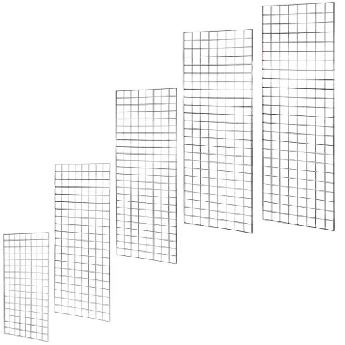 4ft mesh NEW HEAVY DUTY GRID WALL/GRIDWALL MESH CHROME DISPLAY PANEL