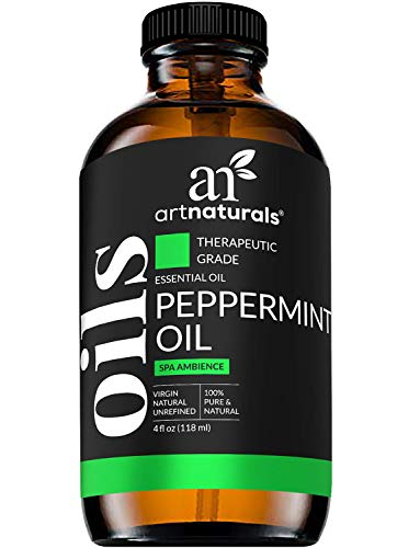ArtNaturals Peppermint Essential Oil 4oz - 100% Pure Undiluted Premium Therapeutic Grade Mentha Peperita - Fresh Mint for Hair Growth and Skin - Aromatherapy oil for Diffuser