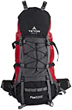 TETON Sports Fox 5200 Internal Frame Backpack; High-Performance Backpack for Backpacking, Hiking, Camping Mars Red, 34