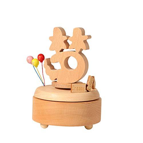 PZMXR Caja de Música Carrusel Caja Musical de Madera Manualidades de Juguete cumpleaños decoración del hogar carrusel Hermoso Hecho a Mano (sueño)