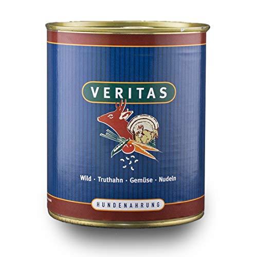 veritas Hundemenü Hundefutter nass – Gourmet Sorte Wild Truthan Gemüse Nudeln - Nassfutter für Erwachsene Hunde I Hundenassfutter (5X 800g)