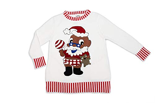 DUBGEE By Whoopi Baby Santa Sweater White
