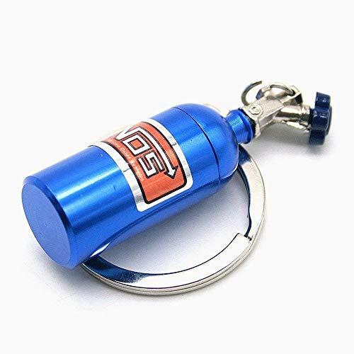 Beito Kreative Autoteile Modelle Mini Nitrous Oxide Flasche Schlüsselanhänger Schlüsselanhänger Ring-Blau