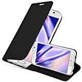 Cadorabo Funda Libro para Samsung Galaxy S6 en Classy Negro - Cubierta Proteccíon con Cierre Magnético, Tarjetero y Función de Suporte - Etui Case Cover Carcasa