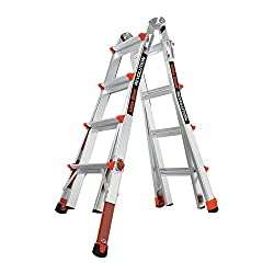 Little Giant Ladder with Ratcheting Levelers