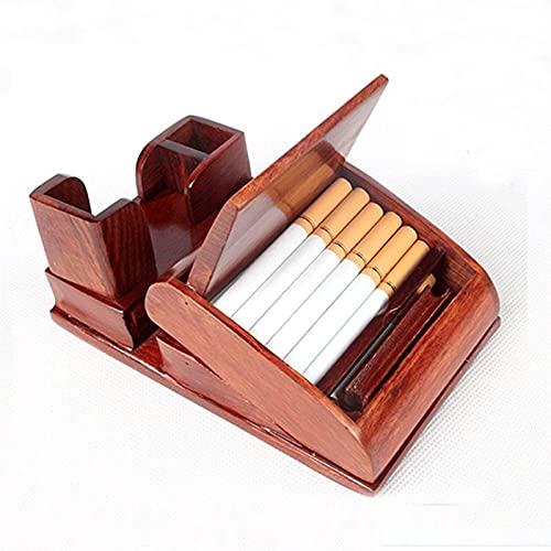 Rodillo de cigarrillos CAJA DE CIGARIO AUTOMÁTICO Máquina de rodadura de cigarrillo automático Accesorios para fumar automáticos Hecho a mano Regalo de cumpleaños de novio para fumar