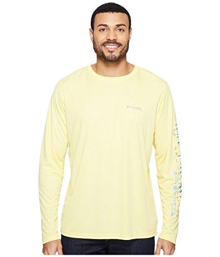 Columbia Terminal Tackle PFG - Camiseta de Manga Larga para Hombre, Hombre, 1707741, Sunlit/Vivid Blue Wahoo Fade, Medium